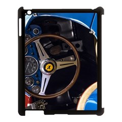 Steering Wheel Ferrari Blue Car Apple iPad 3/4 Case (Black)