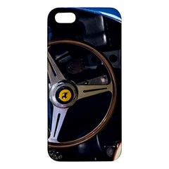 Steering Wheel Ferrari Blue Car Apple iPhone 5 Premium Hardshell Case