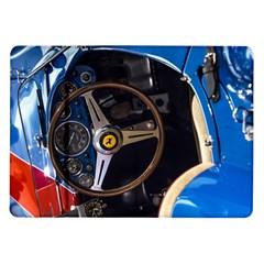 Steering Wheel Ferrari Blue Car Samsung Galaxy Tab 10.1  P7500 Flip Case