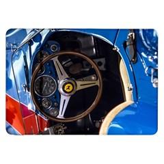 Steering Wheel Ferrari Blue Car Samsung Galaxy Tab 8.9  P7300 Flip Case
