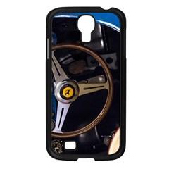Steering Wheel Ferrari Blue Car Samsung Galaxy S4 I9500/ I9505 Case (Black)