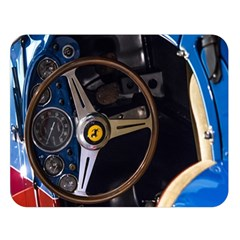 Steering Wheel Ferrari Blue Car Double Sided Flano Blanket (Large)