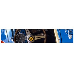 Steering Wheel Ferrari Blue Car Flano Scarf (Large)
