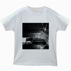 Urban Scene Street Road Busy Cars Kids White T-Shirts
