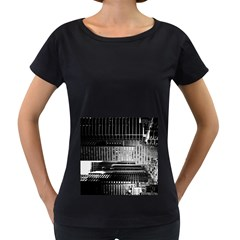 Urban Scene Street Road Busy Cars Women s Loose-Fit T-Shirt (Black)