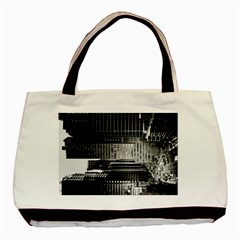 Urban Scene Street Road Busy Cars Basic Tote Bag (Two Sides)