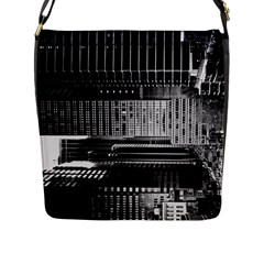 Urban Scene Street Road Busy Cars Flap Messenger Bag (L)