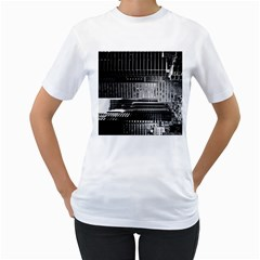 Urban Scene Street Road Busy Cars Women s T-Shirt (White)