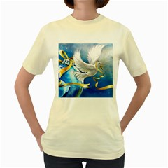 Turtle Doves Christmas Women s Yellow T-Shirt