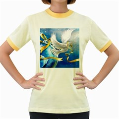 Turtle Doves Christmas Women s Fitted Ringer T-Shirts