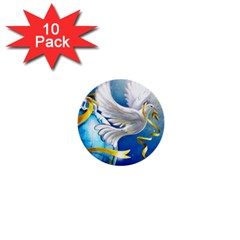 Turtle Doves Christmas 1  Mini Buttons (10 pack)