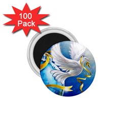 Turtle Doves Christmas 1.75  Magnets (100 pack)