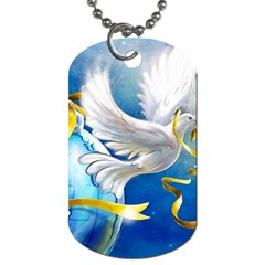 Turtle Doves Christmas Dog Tag (Two Sides)