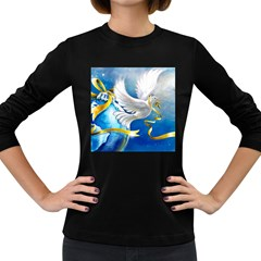 Turtle Doves Christmas Women s Long Sleeve Dark T-Shirts