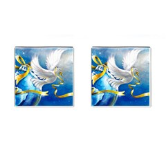 Turtle Doves Christmas Cufflinks (Square)