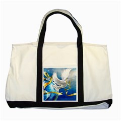 Turtle Doves Christmas Two Tone Tote Bag