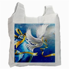 Turtle Doves Christmas Recycle Bag (One Side)