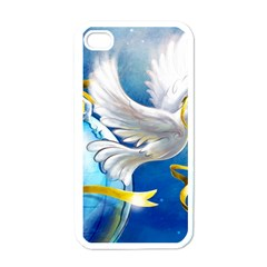 Turtle Doves Christmas Apple iPhone 4 Case (White)