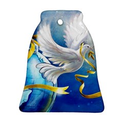 Turtle Doves Christmas Bell Ornament (2 Sides)