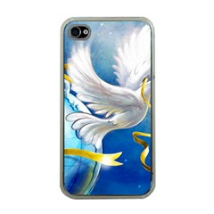 Turtle Doves Christmas Apple iPhone 4 Case (Clear)