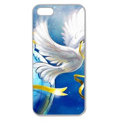 Turtle Doves Christmas Apple Seamless iPhone 5 Case (Clear)