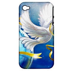Turtle Doves Christmas Apple iPhone 4/4S Hardshell Case (PC+Silicone)