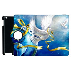 Turtle Doves Christmas Apple iPad 2 Flip 360 Case