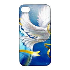 Turtle Doves Christmas Apple iPhone 4/4S Hardshell Case with Stand