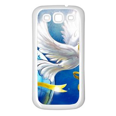 Turtle Doves Christmas Samsung Galaxy S3 Back Case (White)