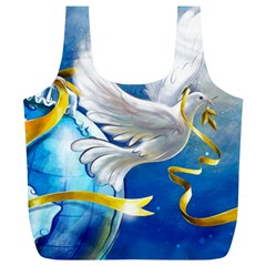 Turtle Doves Christmas Full Print Recycle Bags (L)