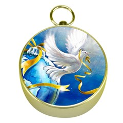 Turtle Doves Christmas Gold Compasses
