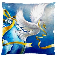 Turtle Doves Christmas Standard Flano Cushion Case (Two Sides)