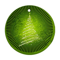 Vector Chirstmas Tree Design Ornament (Round)