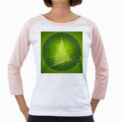 Vector Chirstmas Tree Design Girly Raglans