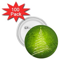 Vector Chirstmas Tree Design 1.75  Buttons (100 pack)