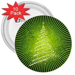 Vector Chirstmas Tree Design 3  Buttons (10 pack)