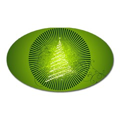 Vector Chirstmas Tree Design Oval Magnet