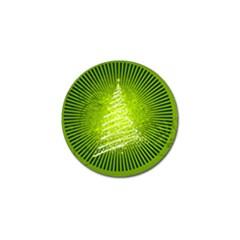 Vector Chirstmas Tree Design Golf Ball Marker
