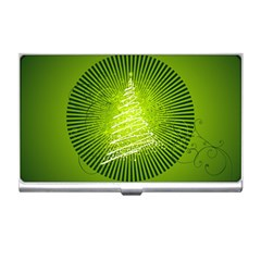 Vector Chirstmas Tree Design Business Card Holders