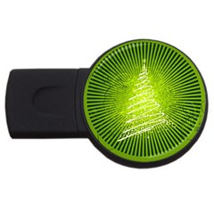 Vector Chirstmas Tree Design USB Flash Drive Round (4 GB)