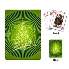 Vector Chirstmas Tree Design Playing Card