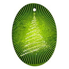Vector Chirstmas Tree Design Oval Ornament (Two Sides)