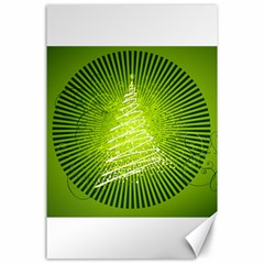 Vector Chirstmas Tree Design Canvas 24  x 36