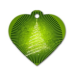 Vector Chirstmas Tree Design Dog Tag Heart (Two Sides)