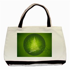 Vector Chirstmas Tree Design Basic Tote Bag (Two Sides)