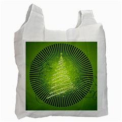 Vector Chirstmas Tree Design Recycle Bag (Two Side)