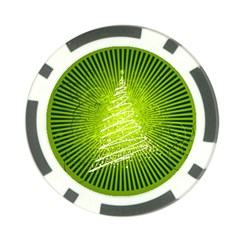 Vector Chirstmas Tree Design Poker Chip Card Guards (10 pack)