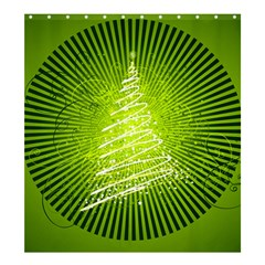 Vector Chirstmas Tree Design Shower Curtain 66  x 72  (Large)