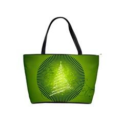 Vector Chirstmas Tree Design Shoulder Handbags