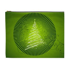 Vector Chirstmas Tree Design Cosmetic Bag (XL)